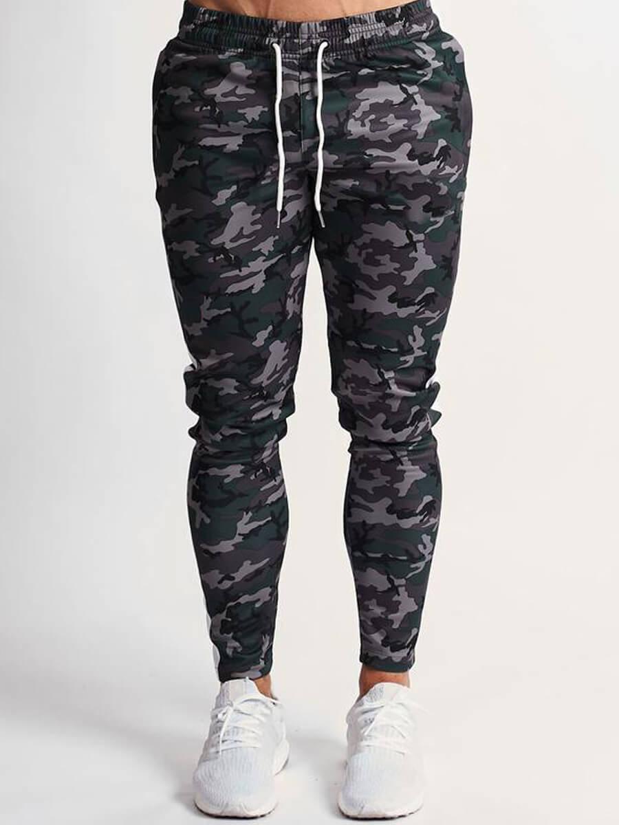 LW Lovely Casual Camo Print Grey Men Pants