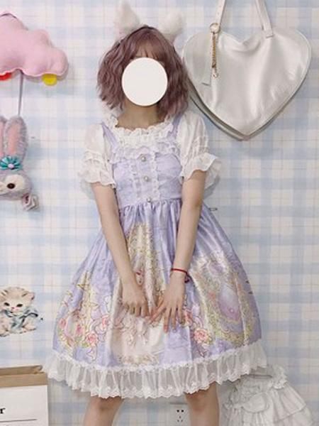 Milanoo Sweet Lolita JSK Dress Star Girl Bows Lolita Jumper Skirts