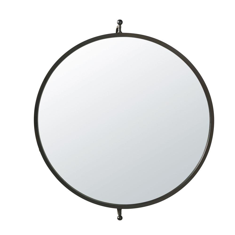 Spiegel, drehbar mit schwarzem Metallrahmen 69x60