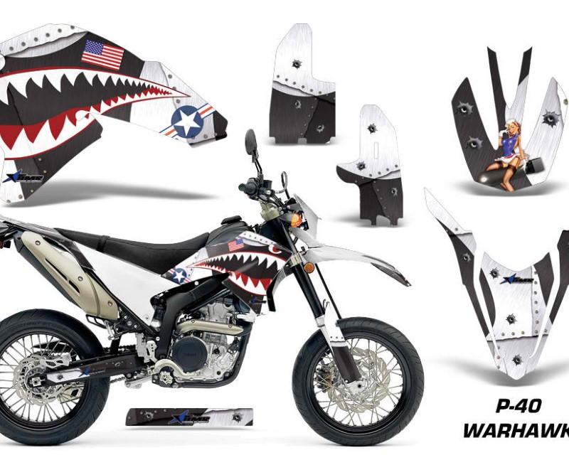 AMR Racing Dirt Bike Decal Graphics Kit Wrap For Yamaha WR250R WR250X 2007-2016áWARHAWK WHITE