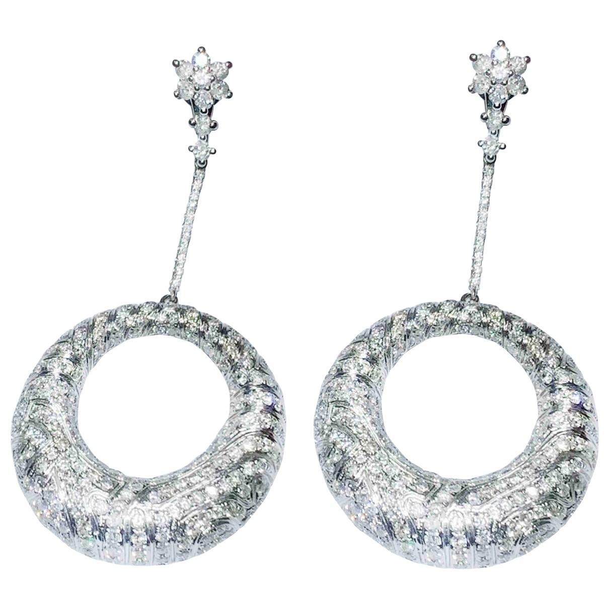 - Boucles doreilles   pour femme en or blanc - blanc