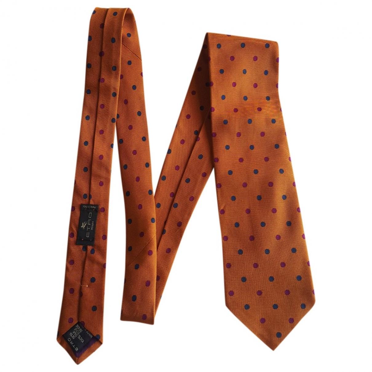 Etro \N Krawatten in  Orange Seide