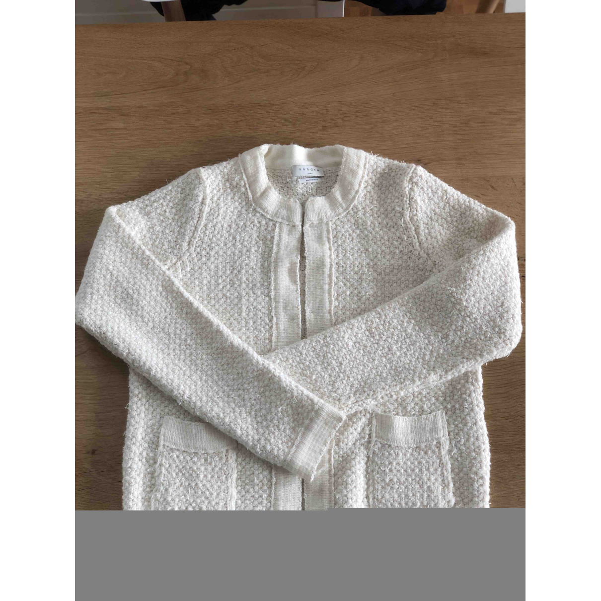 Sandro - Pull Fall Winter 2019 pour femme en coton - blanc