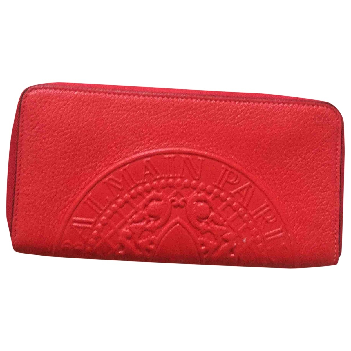 Balmain \N Red Leather wallet for Women \N