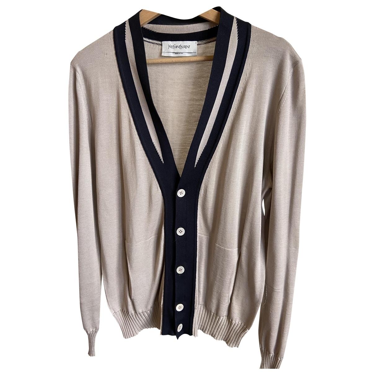 Yves Saint Laurent \N Pullover.Westen.Sweatshirts  in  Beige Seide