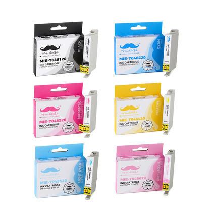 Compatible Epson T048 T0481 - T0486 Ink Cartridge Combo BK/C/M/Y/LC/LM - Moustache@