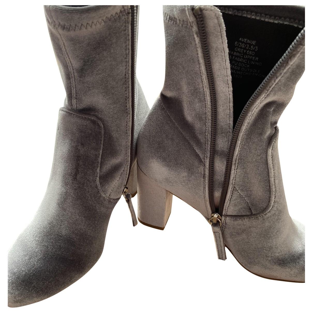 Steve Madden - Boots   pour femme en velours - gris