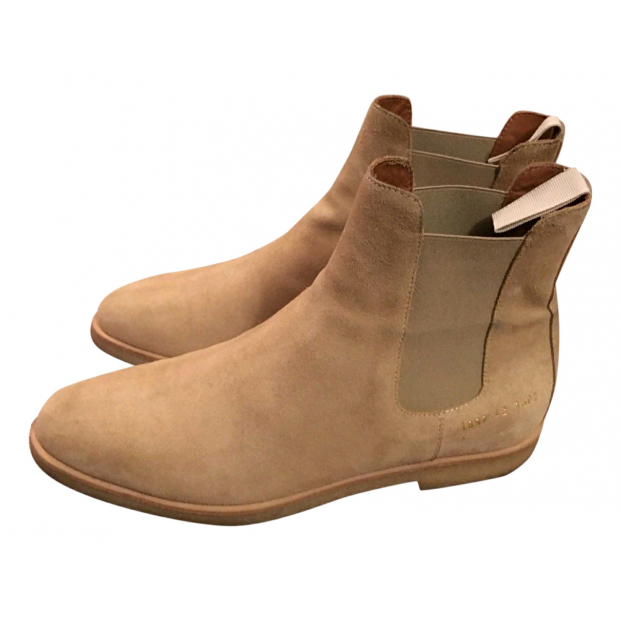 Common Projects - Bottes.Boots   pour homme en suede - camel