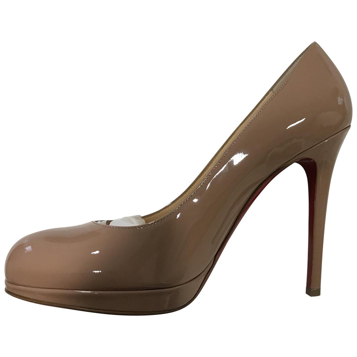 Christian Louboutin - Escarpins Simple pump pour femme en cuir verni - beige