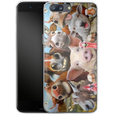 OnePlus 5 Silikon Handyhuelle - Farm Selfie von Howard Robinson