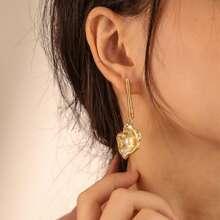 Ohrringe mit Kunstperlen und Muschel Dekor