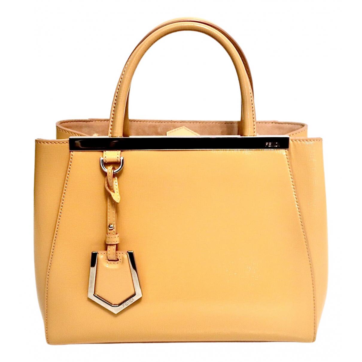 Fendi 2Jours Handtasche in  Beige Leder