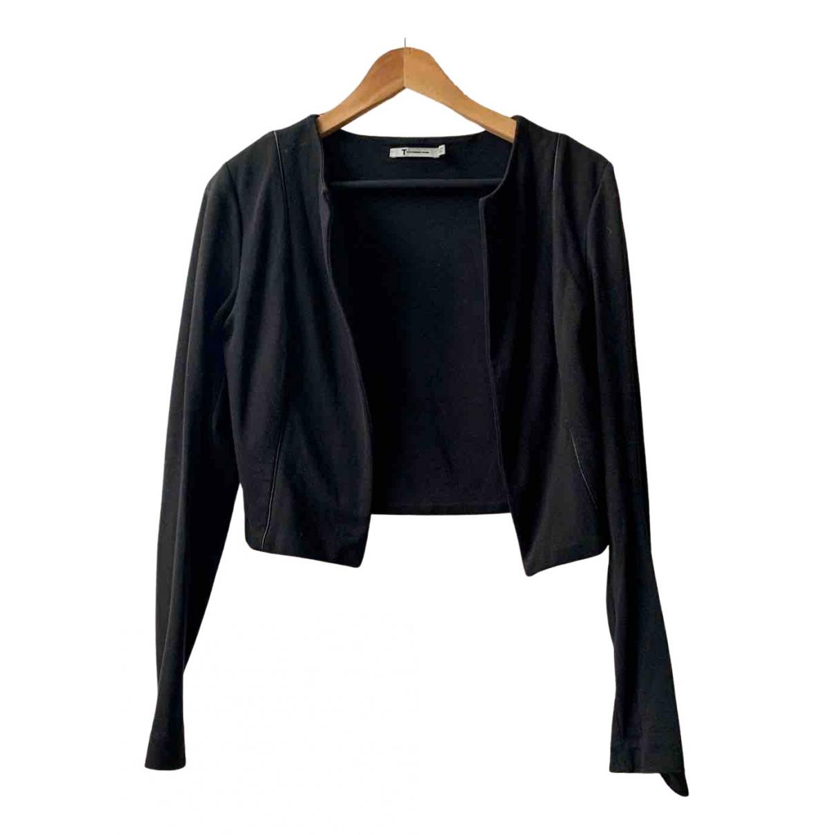 T By Alexander Wang - Veste   pour femme en coton - noir