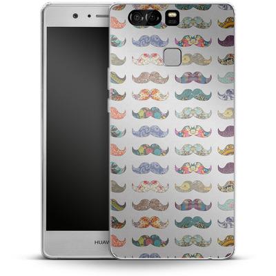 Huawei P9 Silikon Handyhuelle - Mustache Mania von Bianca Green