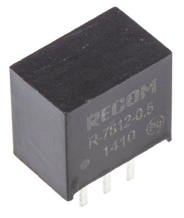 Recom Through Hole Switching Regulator, 12V dc Output Voltage, 15 → 32V dc Input Voltage, 500mA Output Current