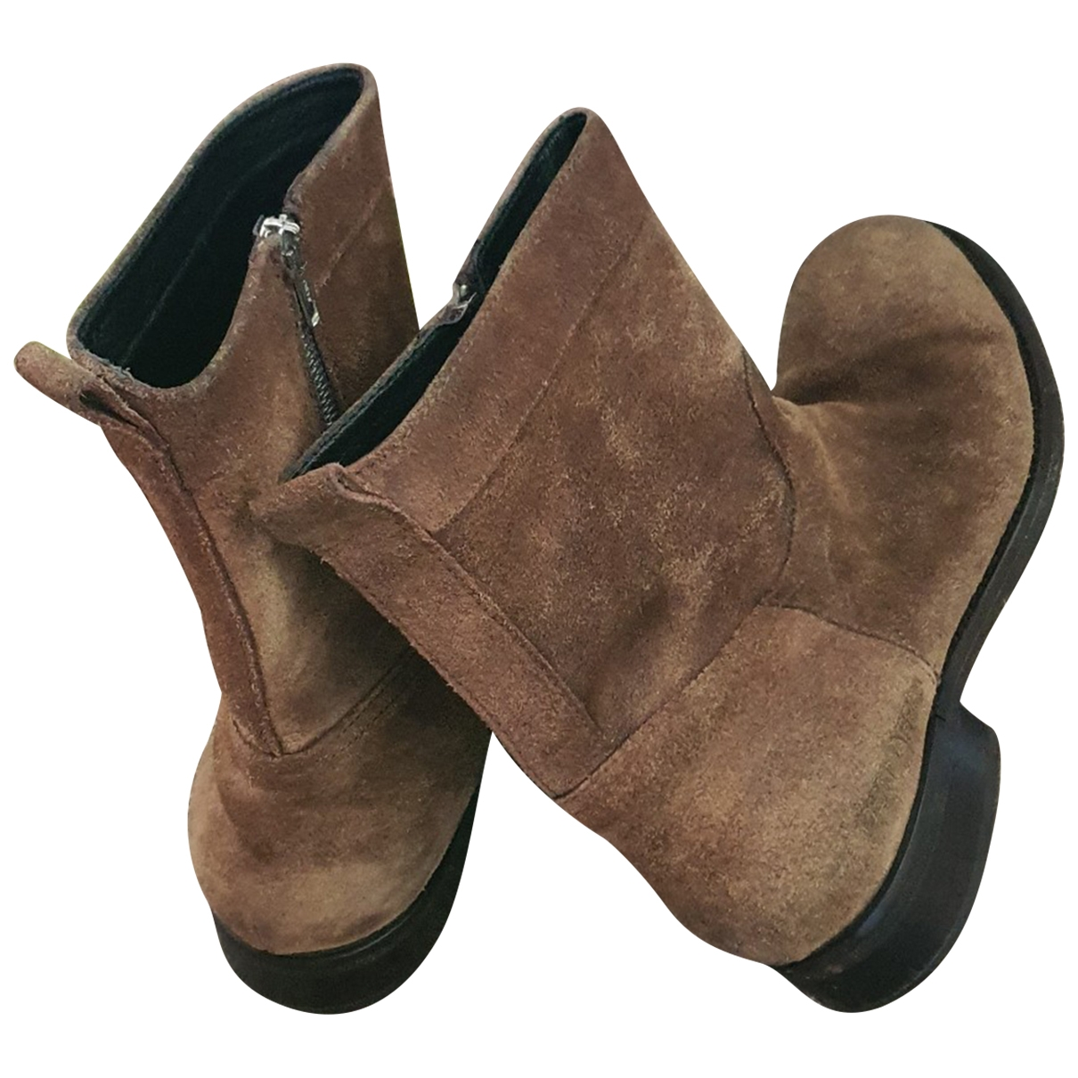 Dsquared2 - Bottes.Boots   pour homme en suede - marron