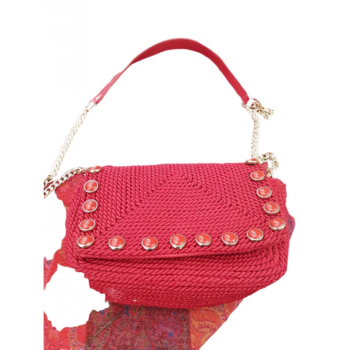 Zara - Sac a main   pour femme en coton - rouge