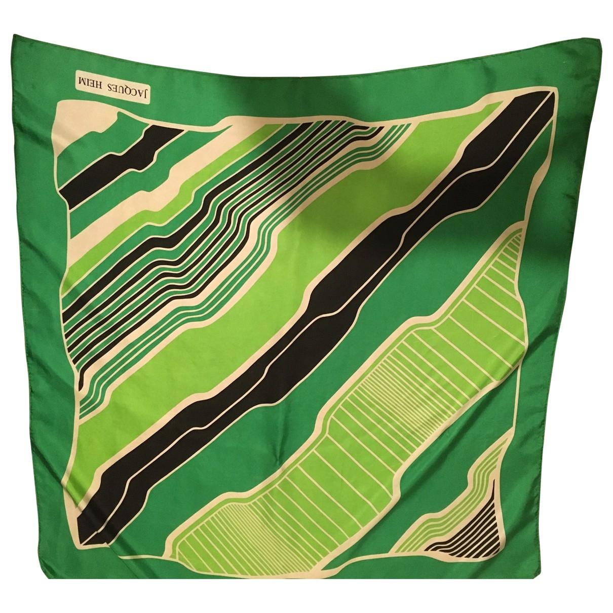 Jacques Heim - Carre   pour femme en soie - vert