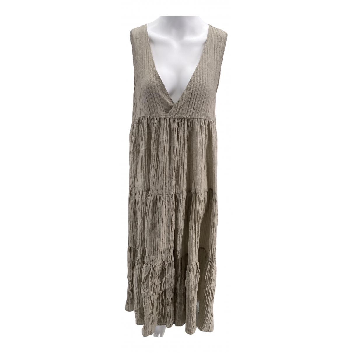 Weili Zheng \N Kleid in  Beige Viskose