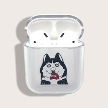Husky Print Clear Airpods Case