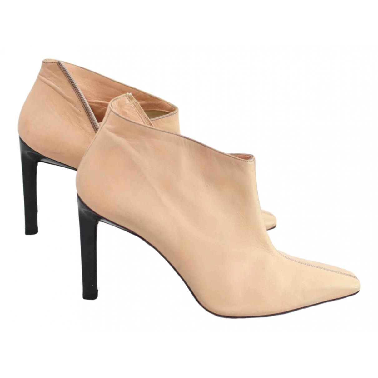 Christian Lacroix - Boots   pour femme en cuir - beige