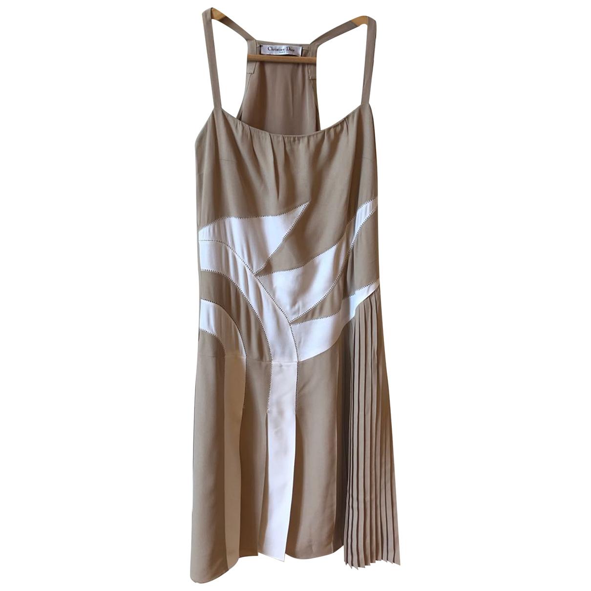 Dior \N Kleid in  Beige Seide