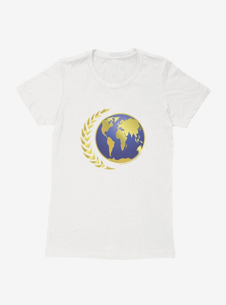 Star Trek Starfleet Command Earth Icon Womens T-Shirt