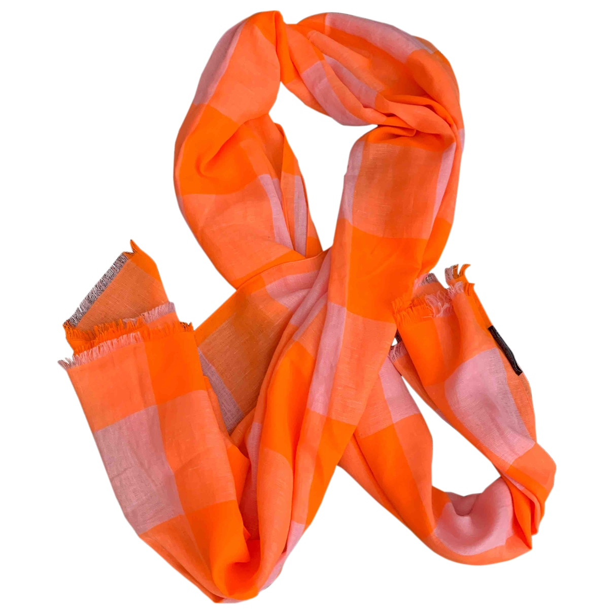 Marc By Marc Jacobs - Foulard   pour femme en lin - orange