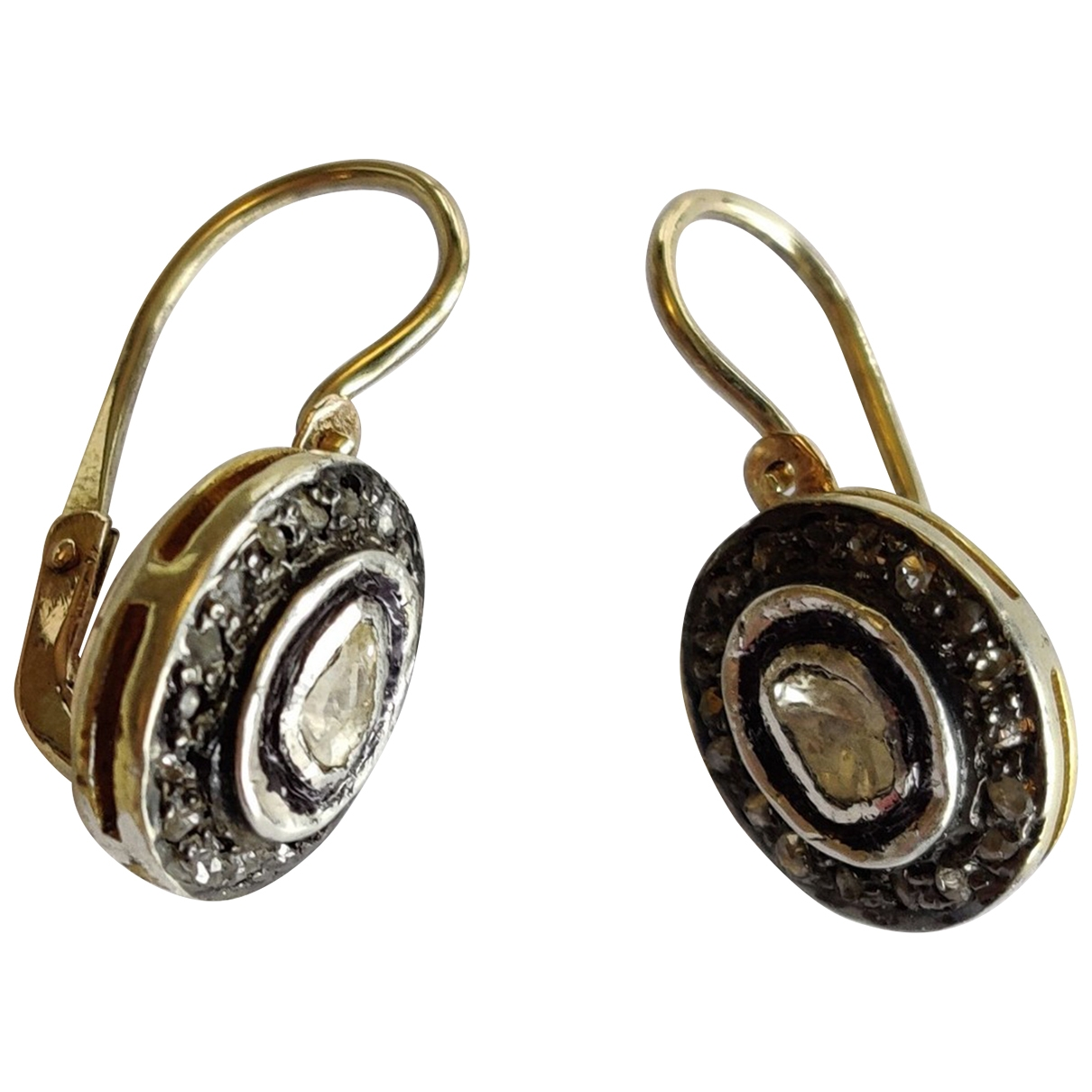 Non Signé / Unsigned Art Déco Gold Yellow gold Earrings for Women \N