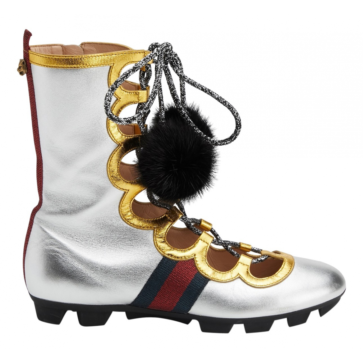 Gucci \N Silver Leather Boots for Women 38.5 EU