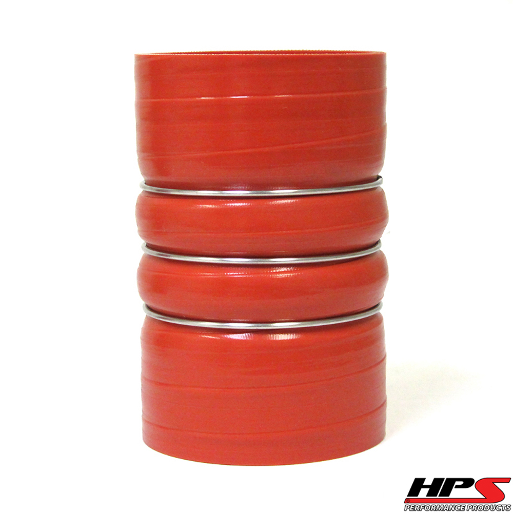 HPS 2.5inch 4-ply Reinforced Aramid CAC Charge Air Cooler Silicone Hose Coupler HOT Side
