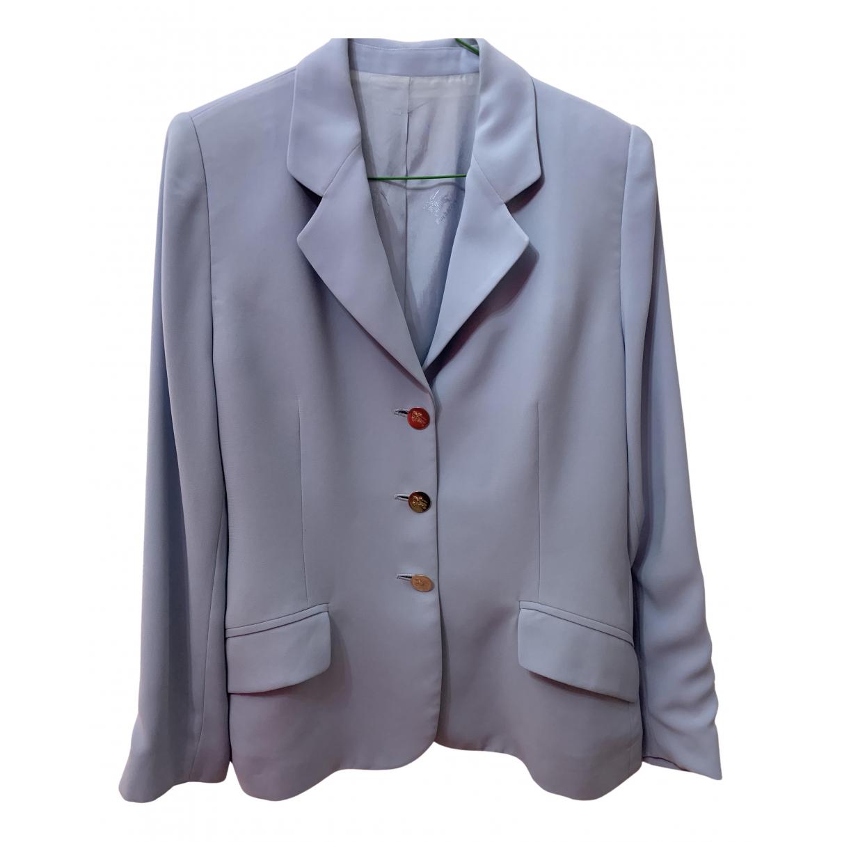Burberry - Veste   pour femme - bleu
