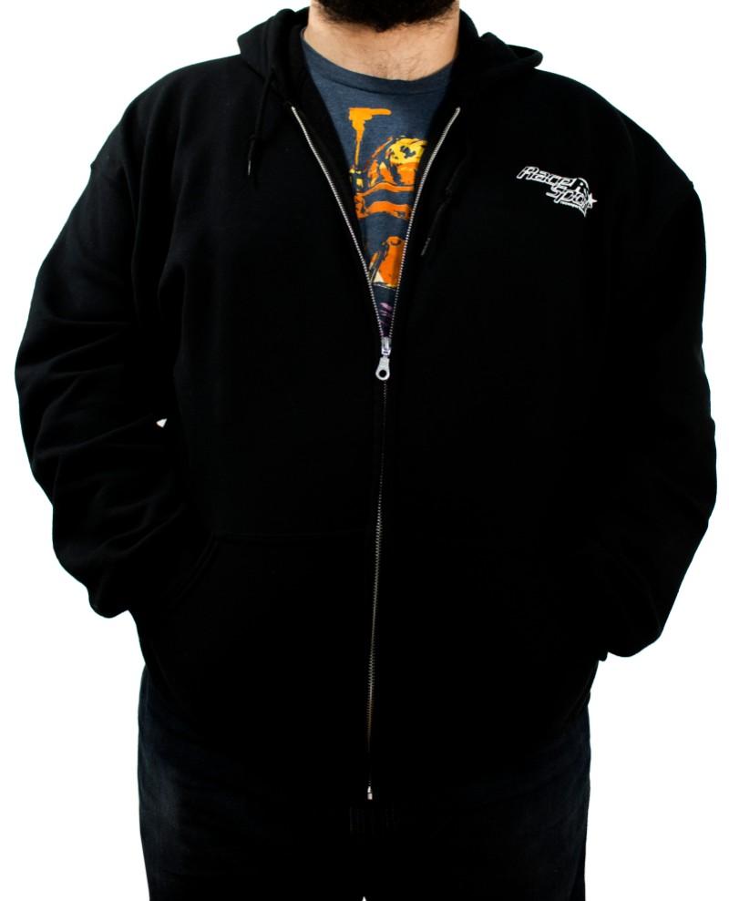 Race Sport Lighting RS343BXXL Black Men's Heavy Blend Full Zip Hooded Sweat Shirt Extra Extra Large