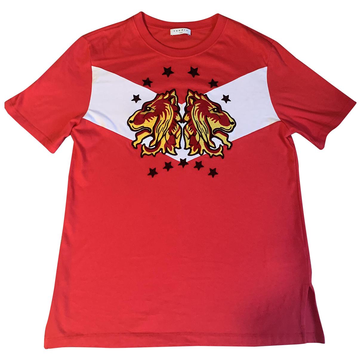Sandro - Top   pour femme en coton - rouge