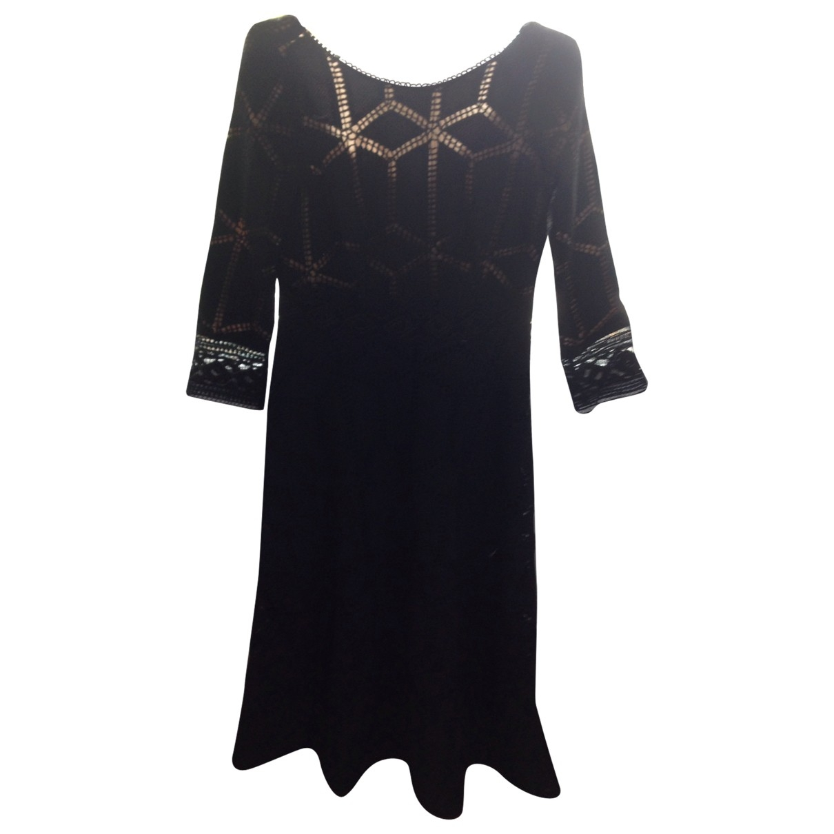 Ba&sh \N Black Cotton dress for Women 40 FR