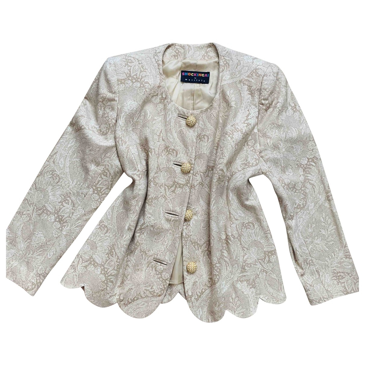 Non Signe / Unsigned \N Jacke in  Beige Wolle