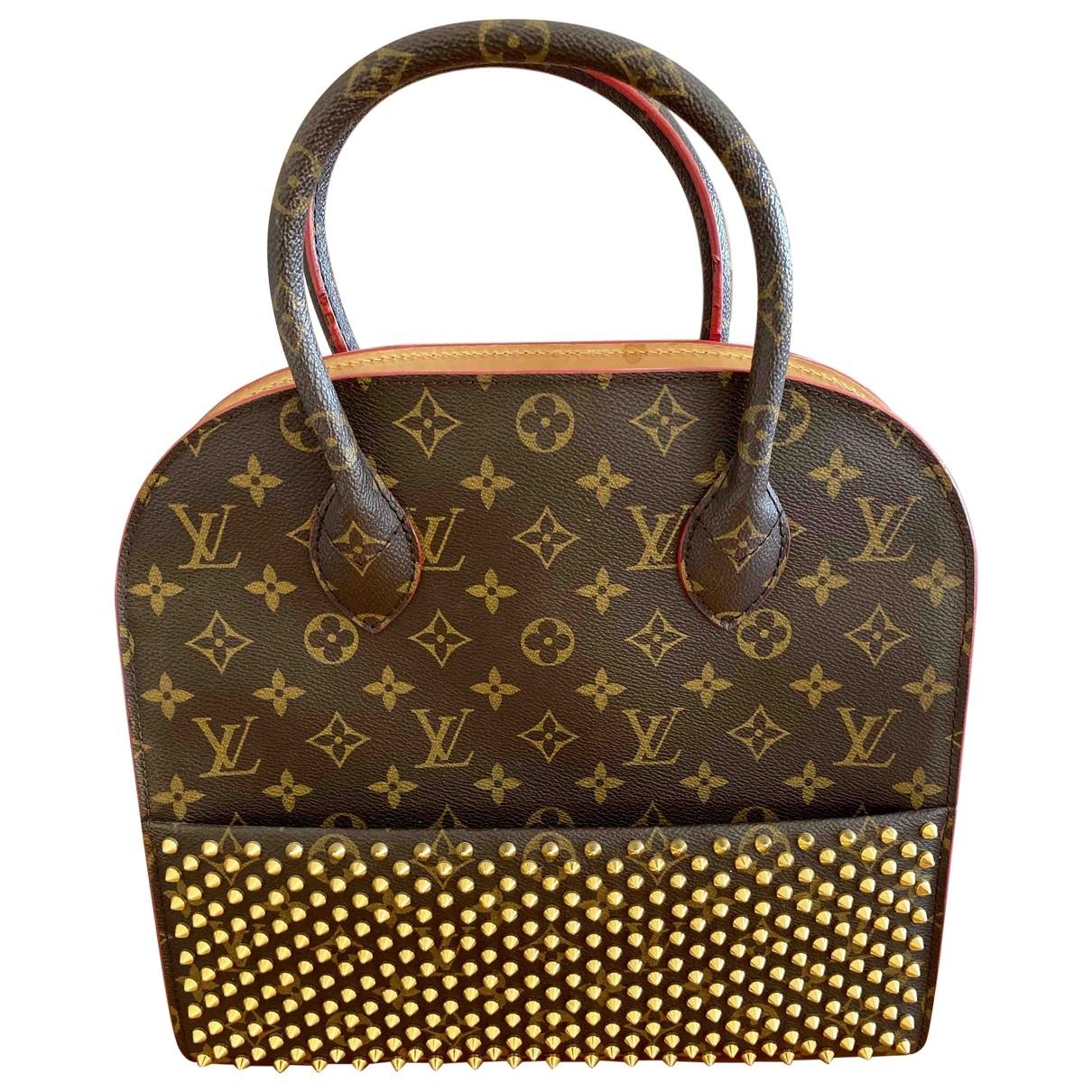 Louis Vuitton Shopping Bag Louboutin Handtasche in  Bunt Leinen