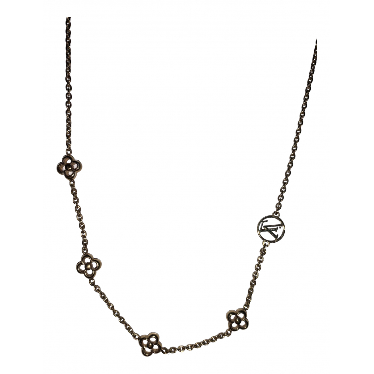 Louis Vuitton - Collier Monogram pour femme en plaque or - dore