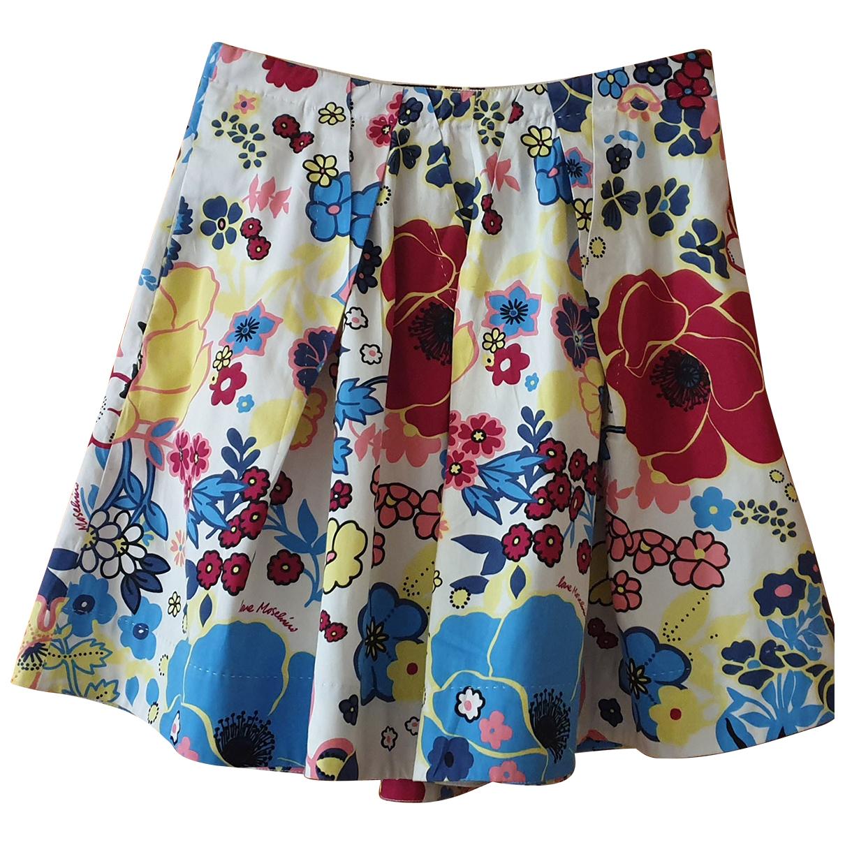 Moschino Love N White Cotton skirt for Women 40 IT