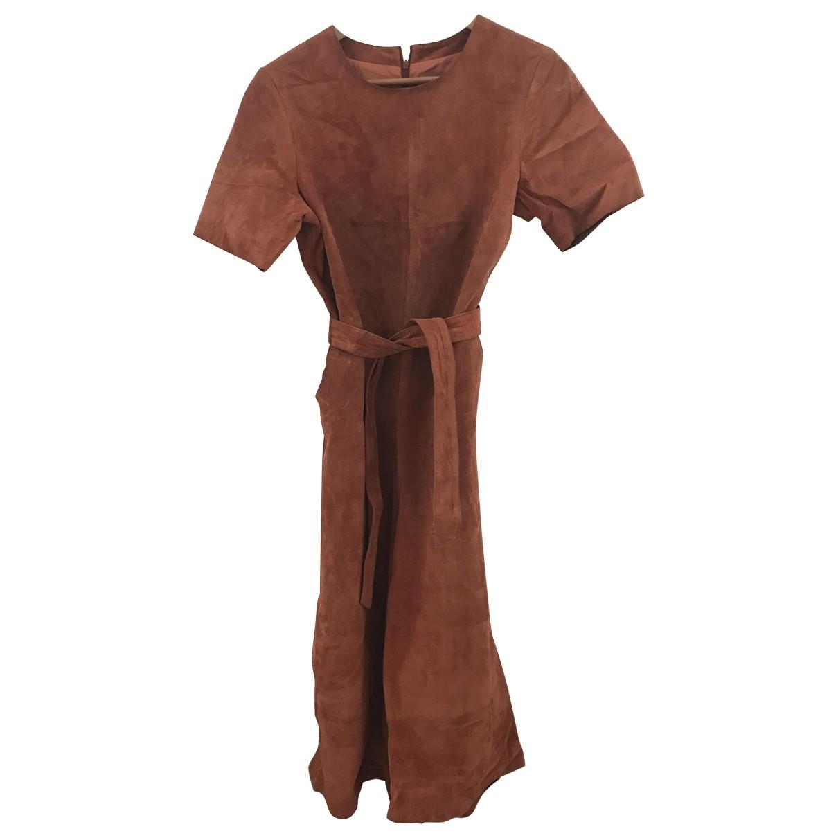 Asos \N Orange Leather jumpsuit for Women 38 FR