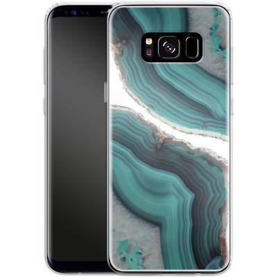 Samsung Galaxy S8 Silikon Handyhuelle - Sea Agate von Emanuela Carratoni