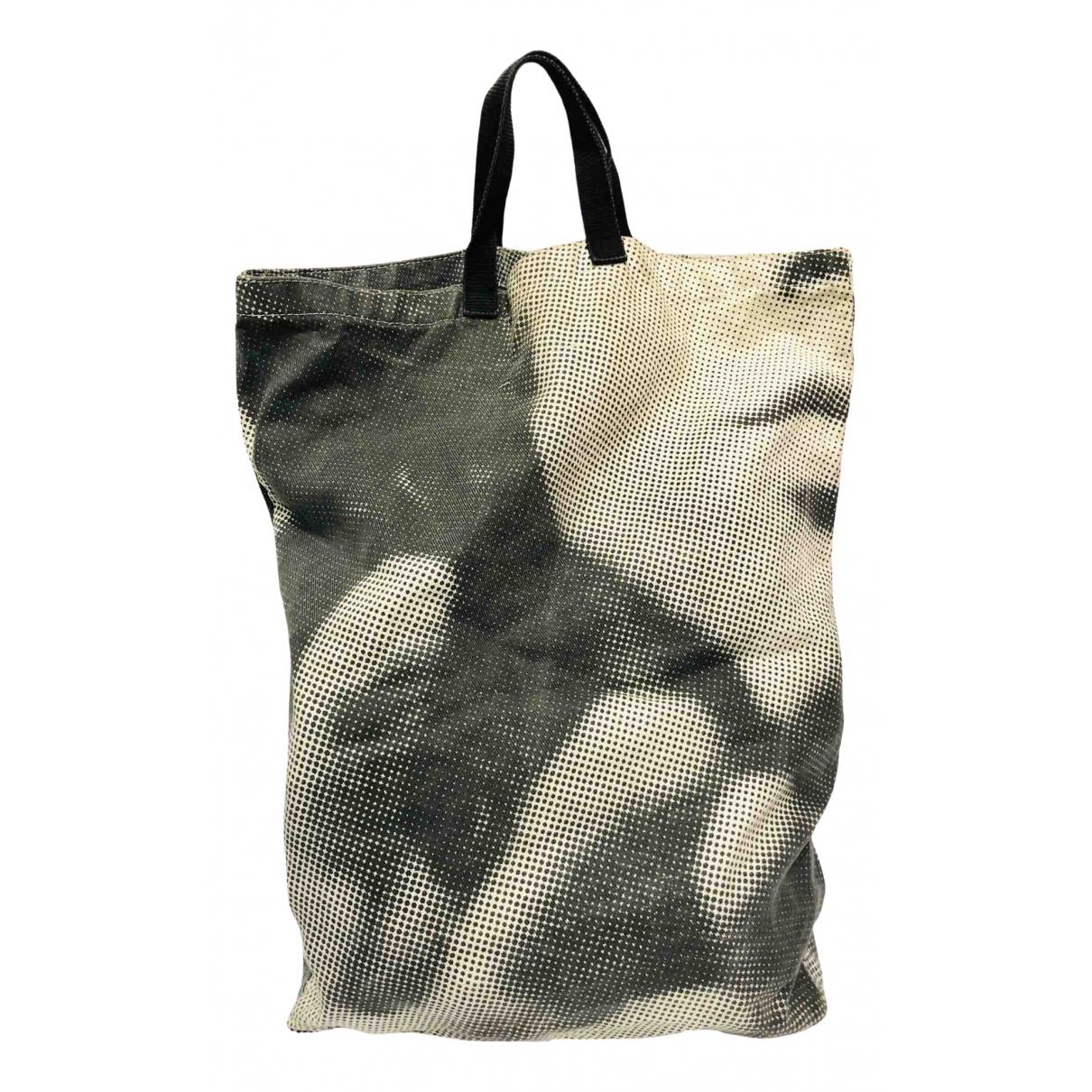 Mm6 \N Handtasche in  Blau Baumwolle