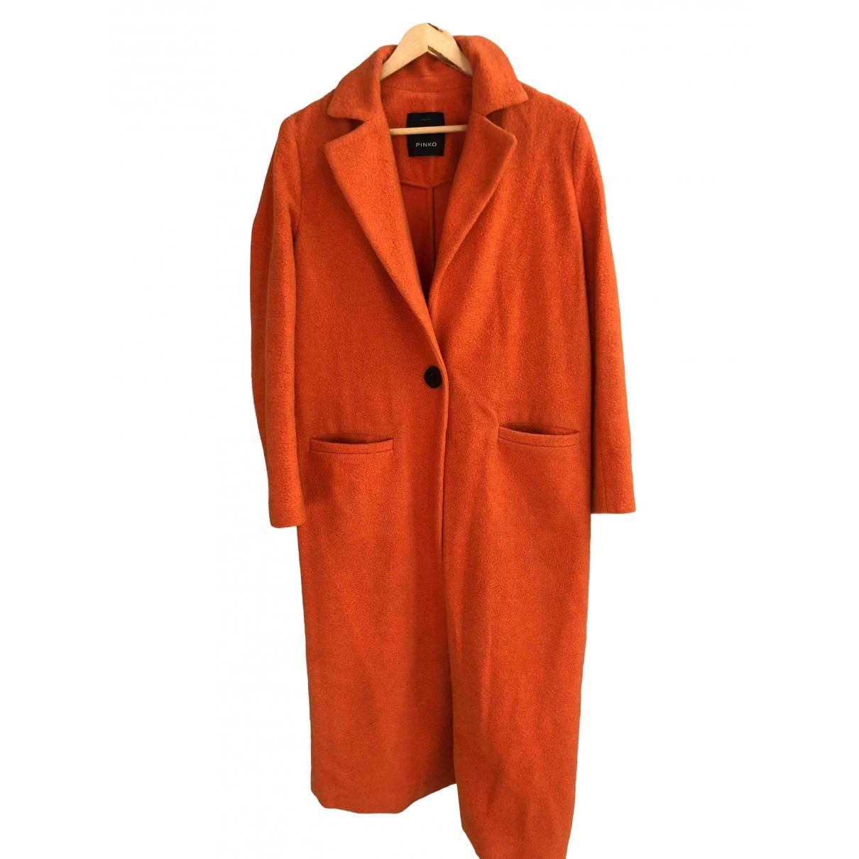 Pinko - Manteau   pour femme en laine - orange