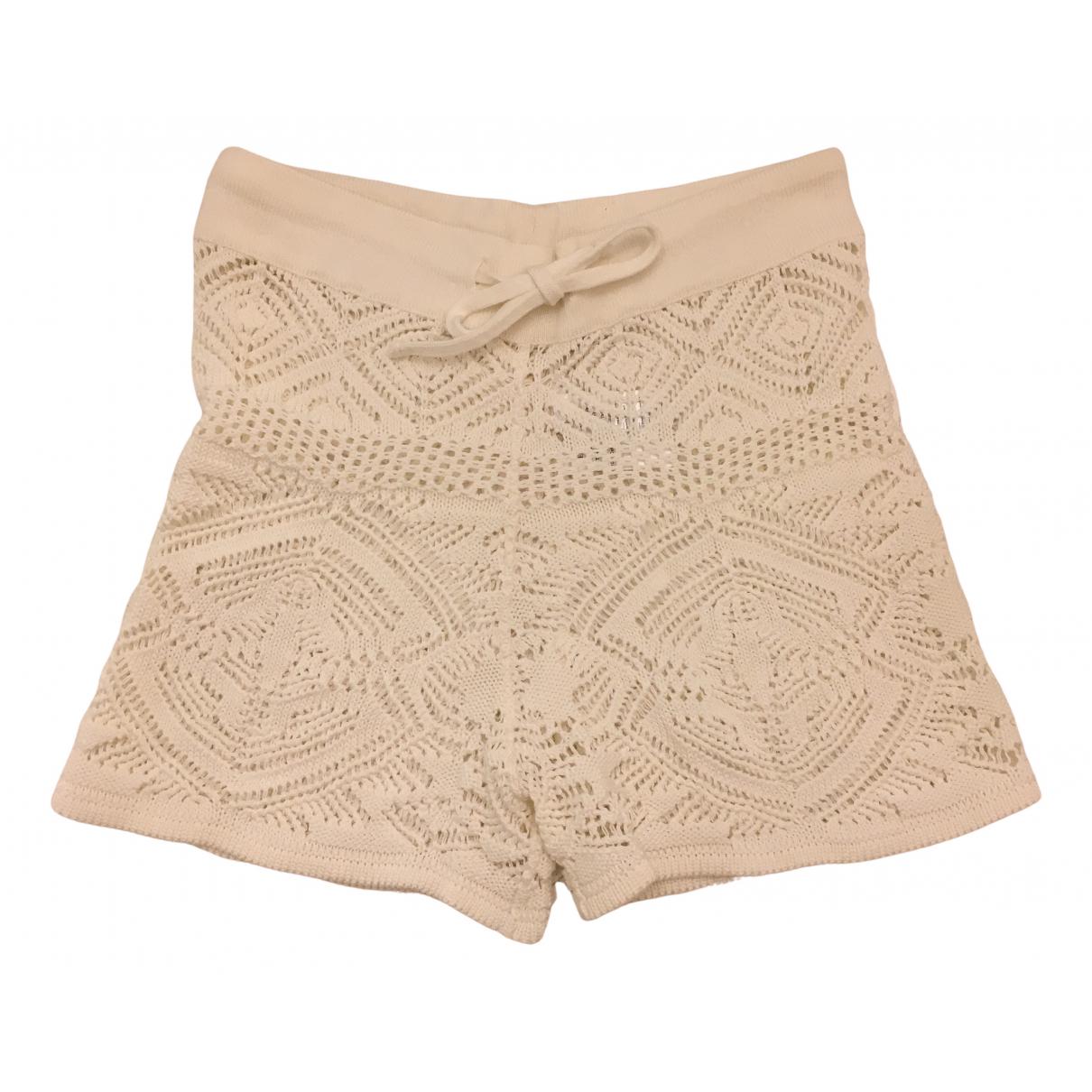 Emilio Pucci \N White Cotton Shorts for Women S International