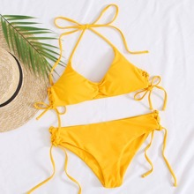 Halter Tie Side Bikini Swimsuit