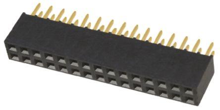 Samtec , SSQ 2.54mm Pitch 30 Way 2 Row Straight PCB Socket, Through Hole, Solder Termination