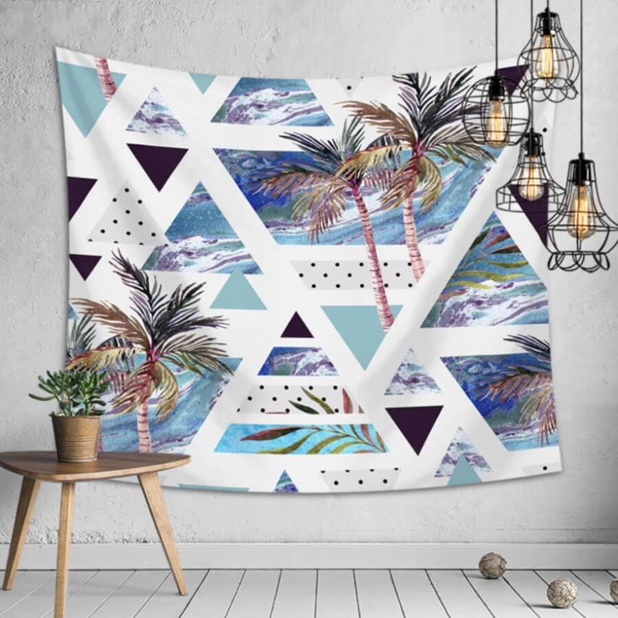 LW Lovely Stylish Print Multicolor Decorative Wall Cloth