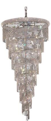 V1801SR36C/SA 1801 Spiral Collection Chandelier D:36In H:65In Lt:26 Chrome Finish (Spectra   Swarovski
