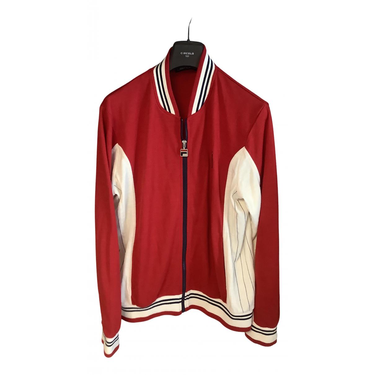 Fila - Vestes.Blousons   pour homme en laine - rouge