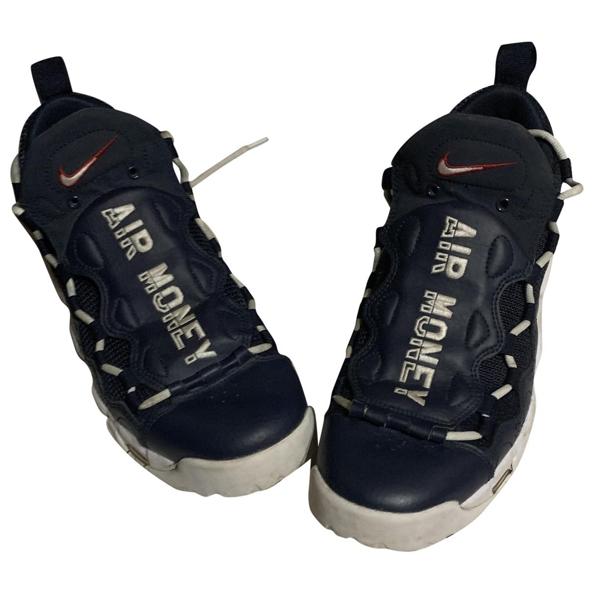 Nike - Baskets Air More Money pour homme en toile - bleu